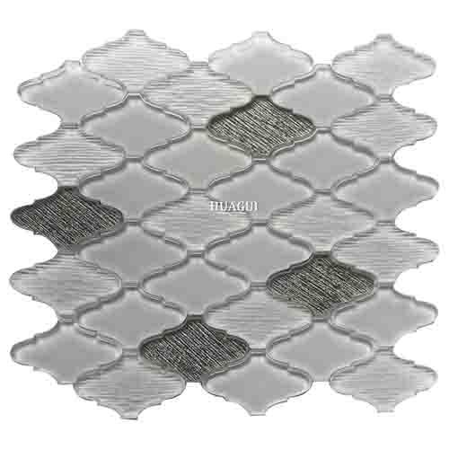 灯笼造型超白亮银色玻璃马赛克浴室瓷砖创意