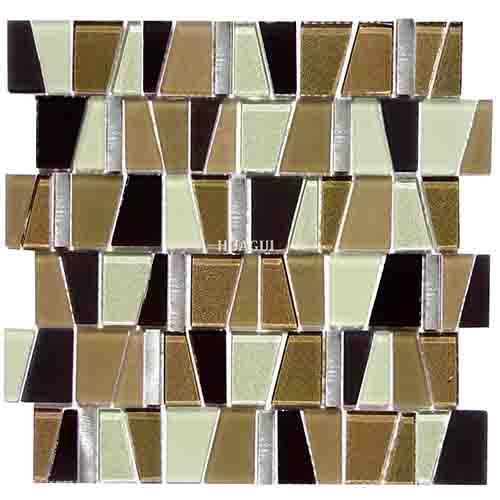 特殊内墙磨砂玻璃金属马赛克装饰