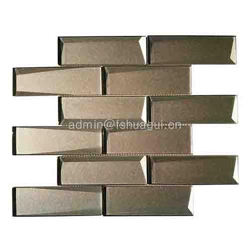 背墙灰色冷喷玻璃马赛克砖HG-HB014