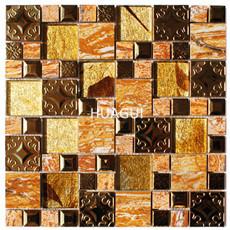 Foshan manufacturer color mixed ripple glass water napier tile