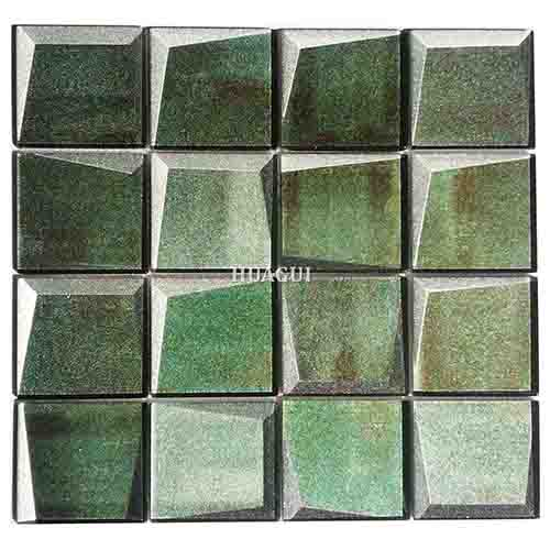 多伦多绿色玻璃3D马赛克瓷砖厨房后挡板瓷砖