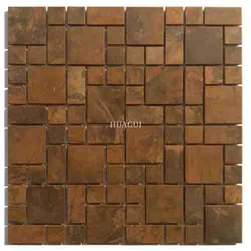 青铜风格豪华金铜马赛克厨房墙砖