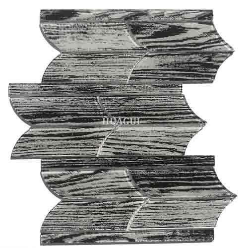 亚特兰大黑色独特形状光滑的玻璃马赛克瓷砖