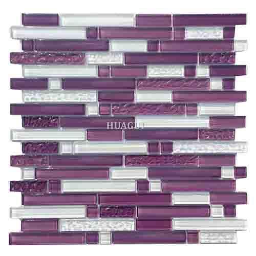 紫水晶玻璃马赛克,带泡沫瓷砖背墙