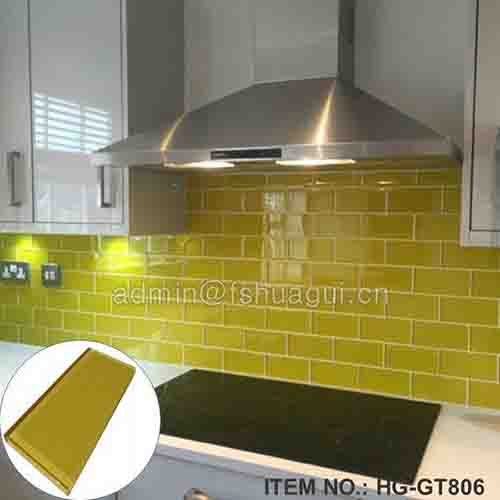 HG-GT806 Yellow subway glass tile
