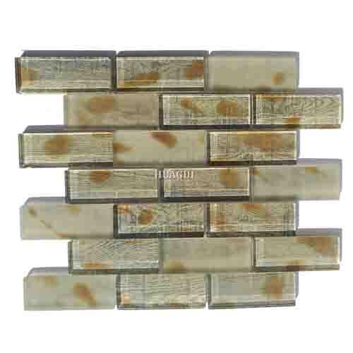 New design pattern 3''*6'' glass mosaic for the best kitchen backsplash tiles