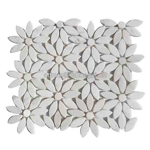 Wholesale flower design wall tile marble stone mosaic tile