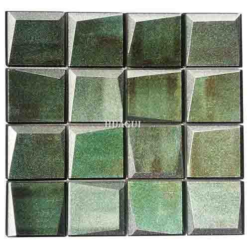 Green glass 3D mosaic tile kitchen backsplash tile Toronto