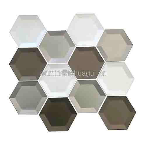 Mixed 3D Hexagon Crytal Glass Mosaic Tile HG-B040