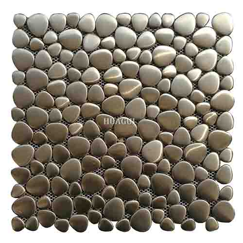 12''*12'' multi rounds stainless steel pebble mosaic tile in UK