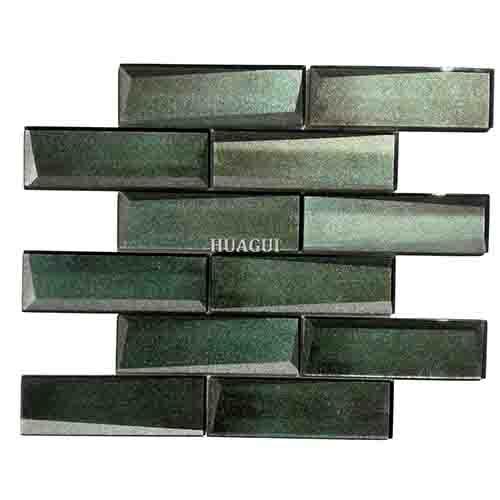 2''*6'' green mosaic brick wall tiles design