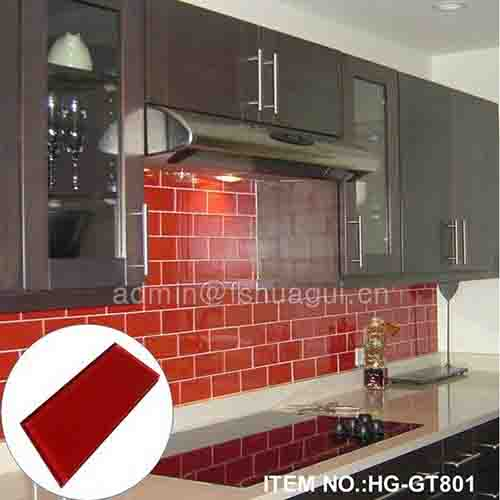 HG-GT801 Red glass subway tile