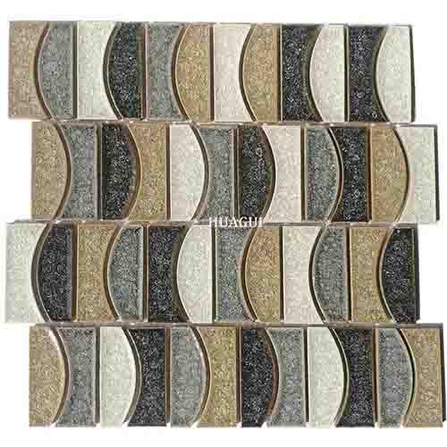 HG-IC012 Wholesale antique blue moon ceramic mosaic tile design idea