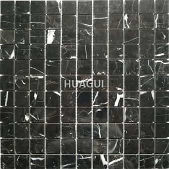Rectangle Black Shape Marble Mosaic Tile Polished Mosaic Tile Bathroom Kitchen Wall Floor Tile