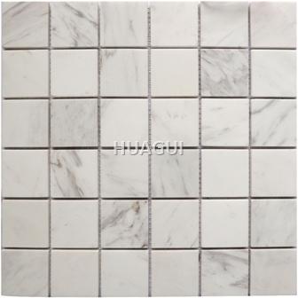 Carrara Polished Square Marble Mosaic Tile Random Sized Marble Mosaic Tile