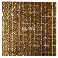 Glass Mosaico Gold Color Material Mosaic Tile For Wall Decoration Gold Mirror Glass Tile Block Ceramic Mosaic