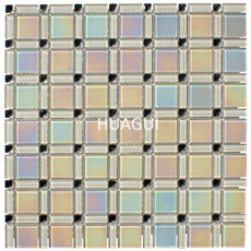 Wall Decor 30*30cm Glass Mosaic Square Look Glass Mirror Tile