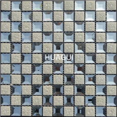 Stock Glass Mosaic Tiles Inverted Beveled Featured Mirror Mosaic Wall Tiles Backsplash Kitchen Wall Fashion Penthouse Design Art
