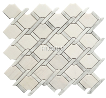 Carrara White Marble Mosaic Tile Irregular Shape Marble Stone Mosaict Tile