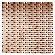 New 3D beveled mirror rose gold color  rectangle glass tile mosaic for bathroom kitchen wall backsplash decor