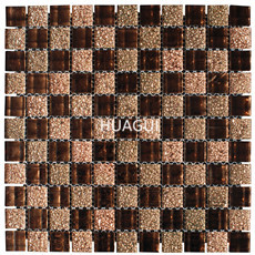 Wholesale modern house mosaic designs self adhesive wall tiles glass mixed ceramic mosaic