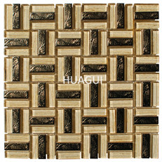 High Quality Mosaic Tile Sheet Kitchen Glass Mosaic China factory Supply