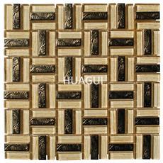 High Quality Mosaic Tile Sheet Kitchen Glass Mosaic China factory Supply