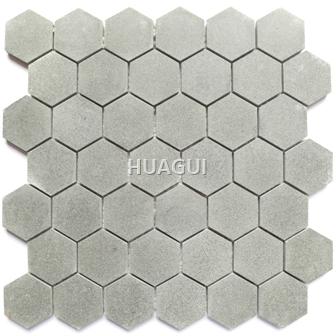 Honeycomb  Marble Mosaic Tile in Grey Color Hexagon Mosaic Tile Polished Bathroom Kitchen Wall Floor Tile