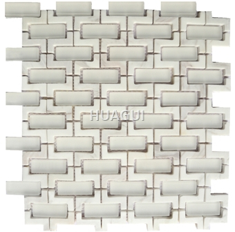 Sticks Natural Stone Marble Mosaic Tile Marble Mosaic Tile in White