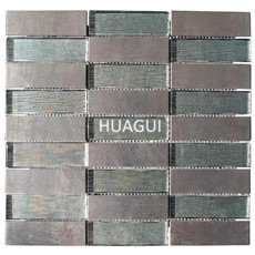 Glass mosaic metal tile rectangle shape for project building