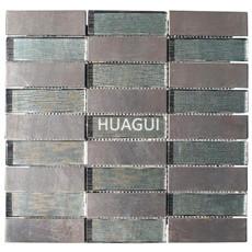 Glass mosaic metal tile rectangle shape for project building