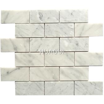 Carrara White Square  Marble Mosaic Tile brick tile for Wall Panel Backsplash