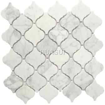 Carrara Lantern Marble Mosaic Tile high quality Magic pattern