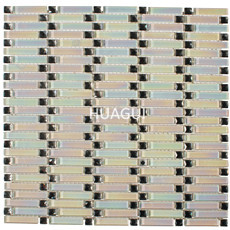 Iridescent Square  Crystal Mosaic Glass Tile,Mirror Glass Mosaic Tile,Glass Mosaic