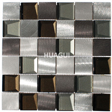 Stainless Steel And Glass Mosaic Mix - Kitchen Backsplash/Bathroom Wall/Home Wall Decor/Fireplace Surround