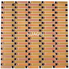 Rose Gold  Beveled Glass Mosaic 3D Mirror Tile With high quality crystal mosaic tile