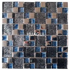 Random Sized Glass Mosaic Tile Wilderness Decorative Backsplash Vinyl Sheet Field Tile