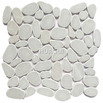 Random Sized Marble Mosaic Tile Stone Material for Wall Fireplace