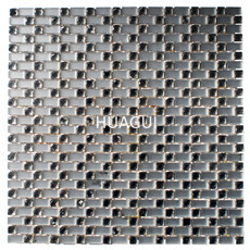 Silver mini square mirror glass mosaic backsplash wall tile decor