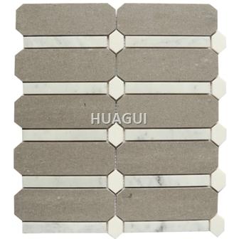 Hexagon Stone Mosaic tile for Bathroom Wall Panel Backsplash