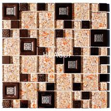Enchanted Metals Stainless Steel Metal Peel & Stick Mosaic Tile Wall Tile BackSpalash