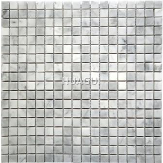 Grey Color Mini Size Square Shape Marble Mosai Tile Marble Mosaic Tile