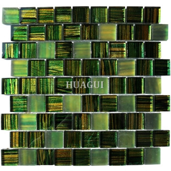 Green Wall Paper Glass mosaic tile  for wall Panel Backspalsh