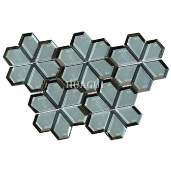 Glass Mosaic Tile interlocking in light blue for condos Home Decoration Villagio Tile supplier