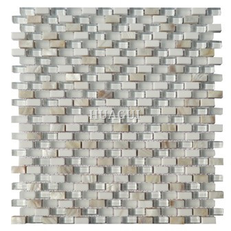 Mother of pearl mix super white glass mosaic Ivy Hill Tile from home depot supplier