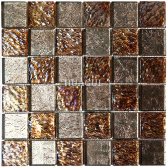 Arizona Tile glass Foil Mosaic Tile in Brown Surface Convex and Concave for Wall Panel Kitchen Backspalsh