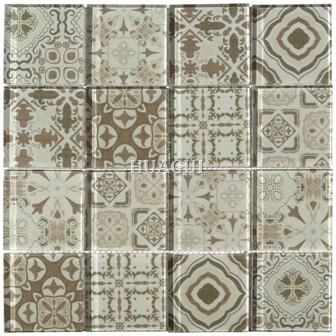 Brown Glass Mosaic Moroccan Tile from Somer tile China supplier