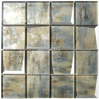 Ecologic 3*3 inch vintage recycled Florida Glass Square Mosaic Tile