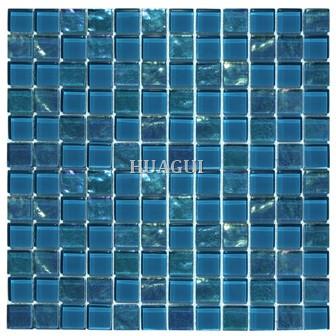 Topazstone blue Glass Mosaics Tesoro Treasure tile