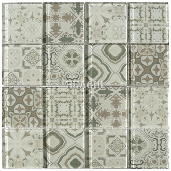 Oyster Square Polished 12*12 inch Hakatai Glass Mosaic Tile
